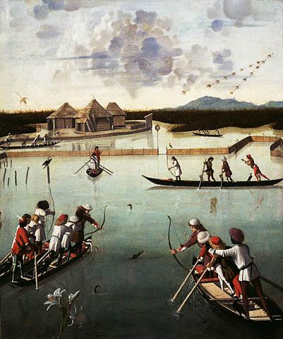 Vittore_carpaccio,_caccia_in_laguna,_1490-1495_ca,_getty_museum