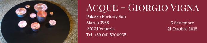 Acque - Giorgio Vigna banner